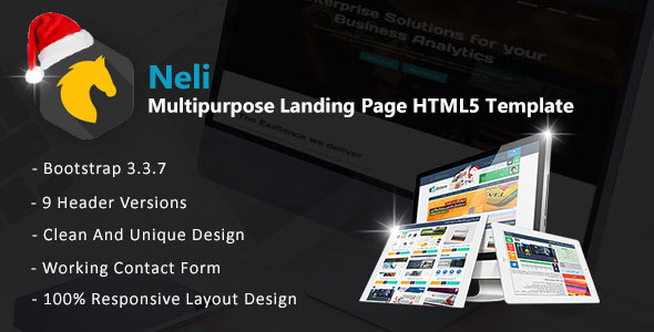 ThemeForest Neli Multipurpose Landing Page HTML5 Template 21102770