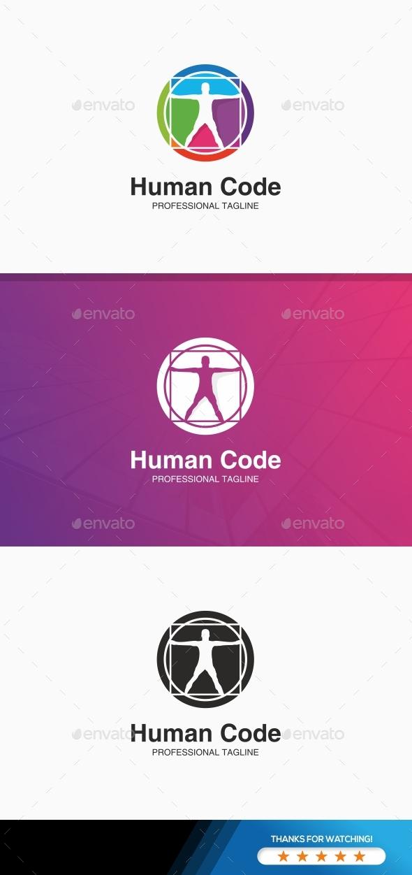 Human Code Logo - Humans Logo Templates
