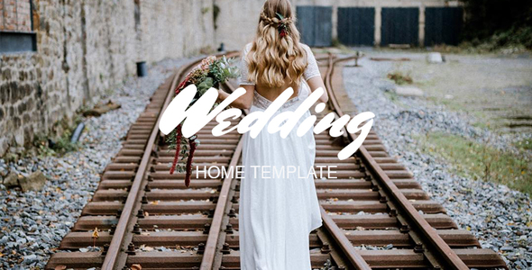 Wedding Home  - eCommerce PSD Template