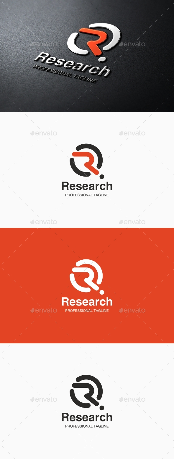 GraphicRiver Research Letter R Logo 21184476