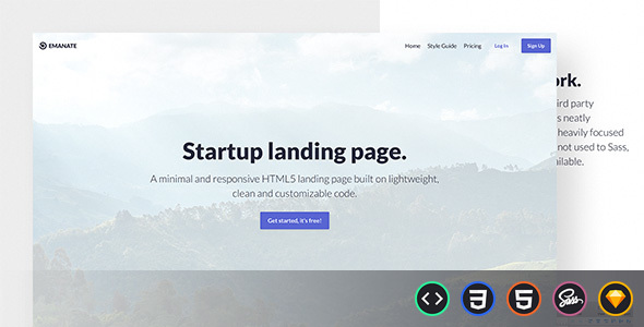 ThemeForest Emanate Startup Landing Page 21102541