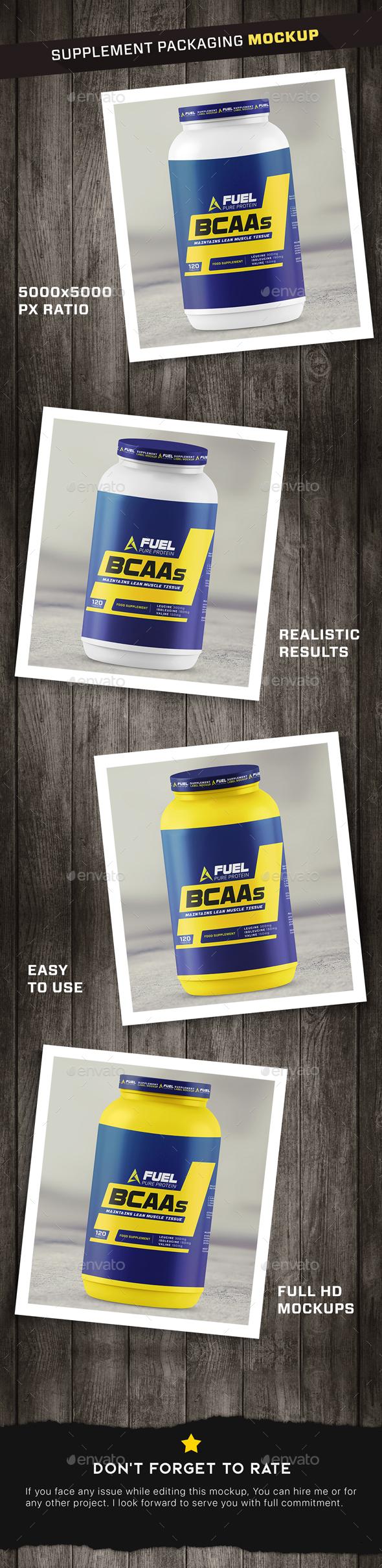 GraphicRiver Protein Powder Supplement Bottle Mockup 21173695