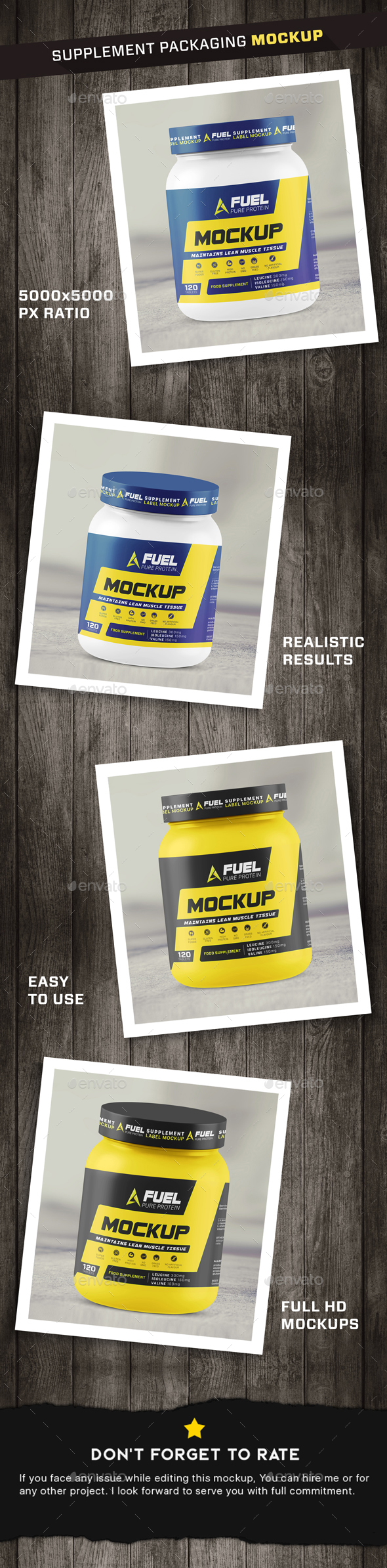 GraphicRiver Protein Powder Supplement Mockup 21173704