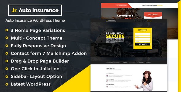 Auto Insurance WordPress Theme - Business Corporate