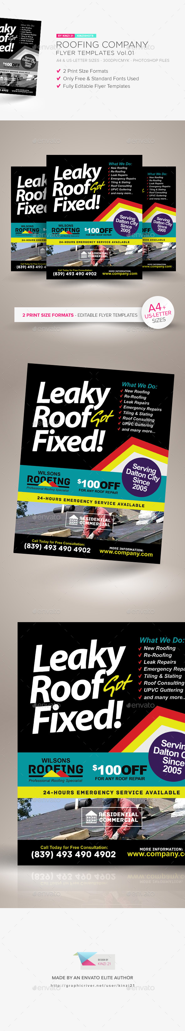 GraphicRiver Roofing Company Flyer Template Vol.01 21187563