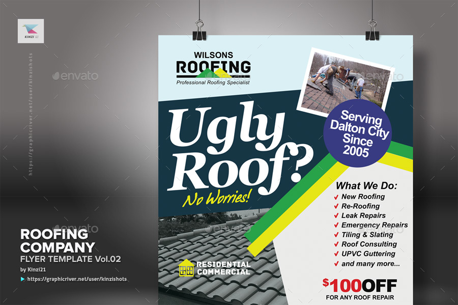 Roofing company flyer template vol02 by kinzishots graphicriver roofing flyer vol 02 screenshots01graphic river roofing company flyer template vol 02 kinzi21g pronofoot35fo Gallery