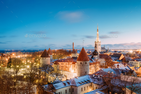 Traditional Old Architecture Cityscape In Historic District Of T - Stock Photo - Images