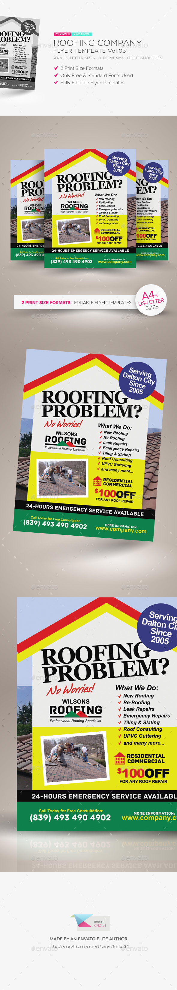 GraphicRiver Roofing Company Flyer Template Vol.03 21187573