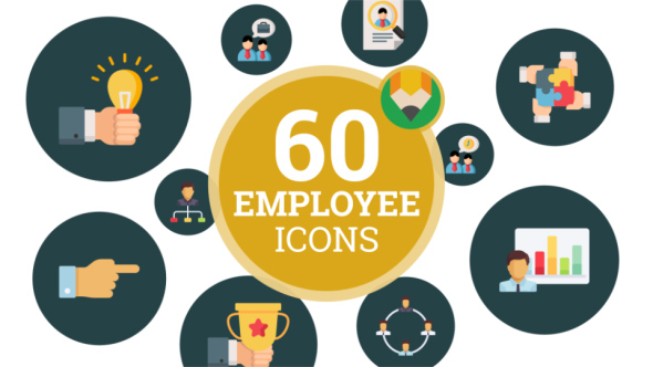 VideoHive Icons Pack Corporate Employee Business Team Flat Animated Icons 21187767