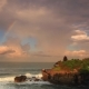 Pura Tanah Lot Temple Under Rainbow. Bali - VideoHive Item for Sale