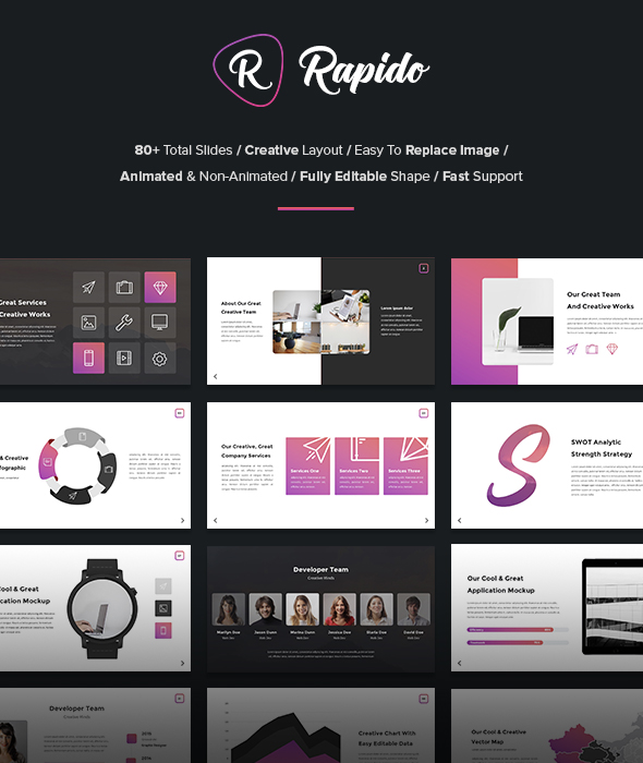 GraphicRiver Rapido Creative Google Slides Template 21187783