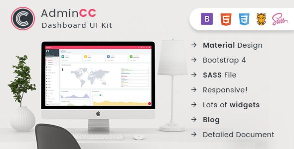 AdminCC - Bootstrap Material Design Premium Admin Dashboard