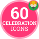 Icons Pack Birthday Celebration Event Party Flat Animated Icons - VideoHive Item for Sale