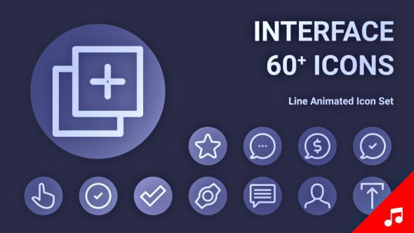 VideoHive Interface Icon Set Line Animated Icons 21187893