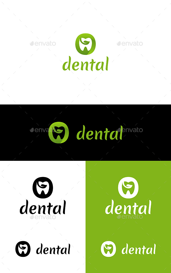 GraphicRiver Eco Dental Logo 21187966