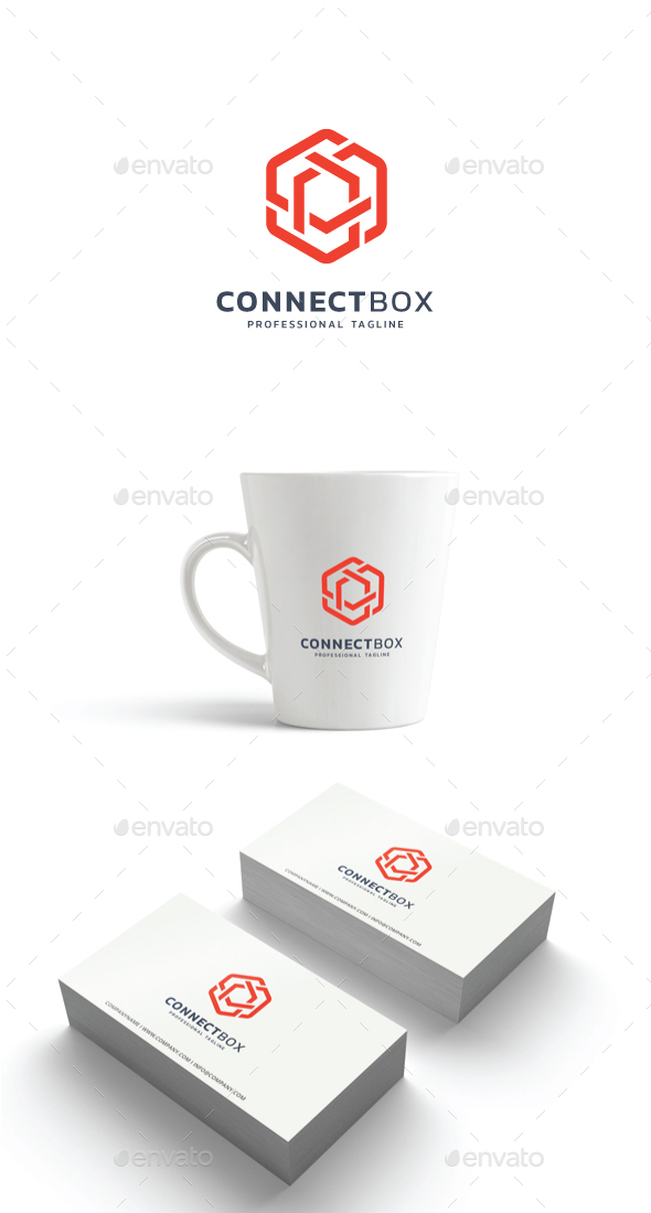 GraphicRiver Connect Box Logo 21188012
