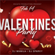 Valentines Day Party Postcard - GraphicRiver Item for Sale