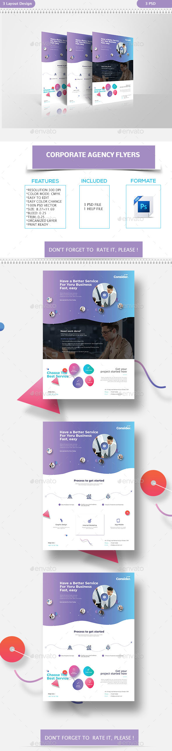 GraphicRiver Corporate Agency Flyers 21188168