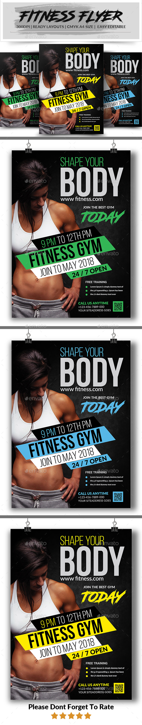 GraphicRiver Fitness Flyer 21188189