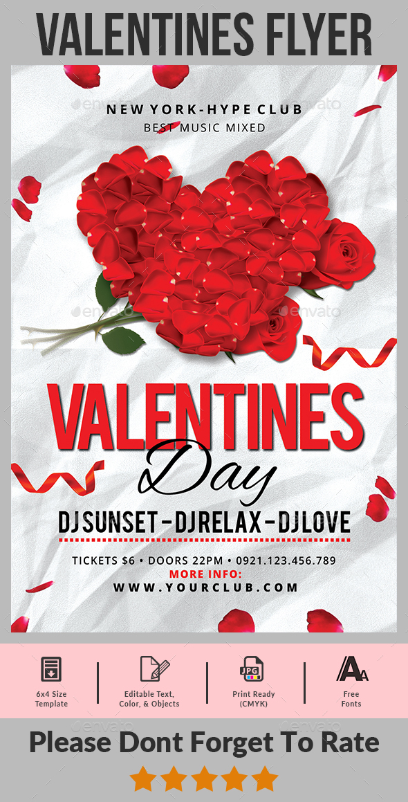 GraphicRiver Valentines Day Flyer 21188198