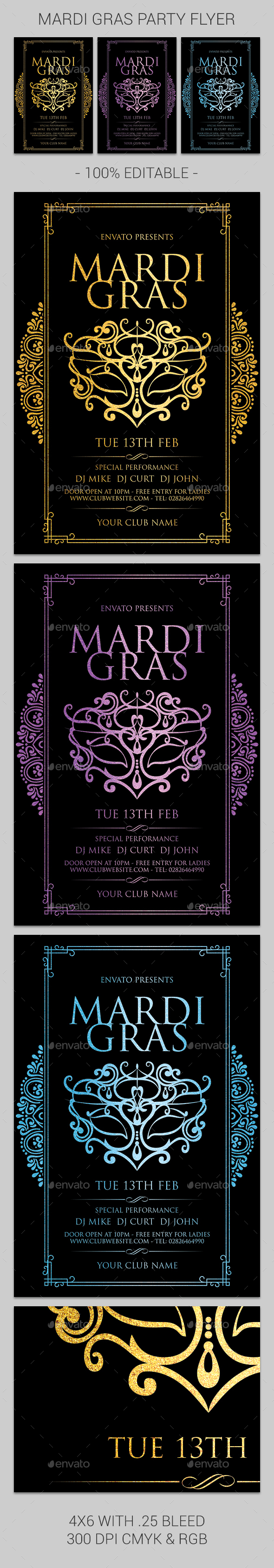 Mardi Gras - Clubs & Parties Events