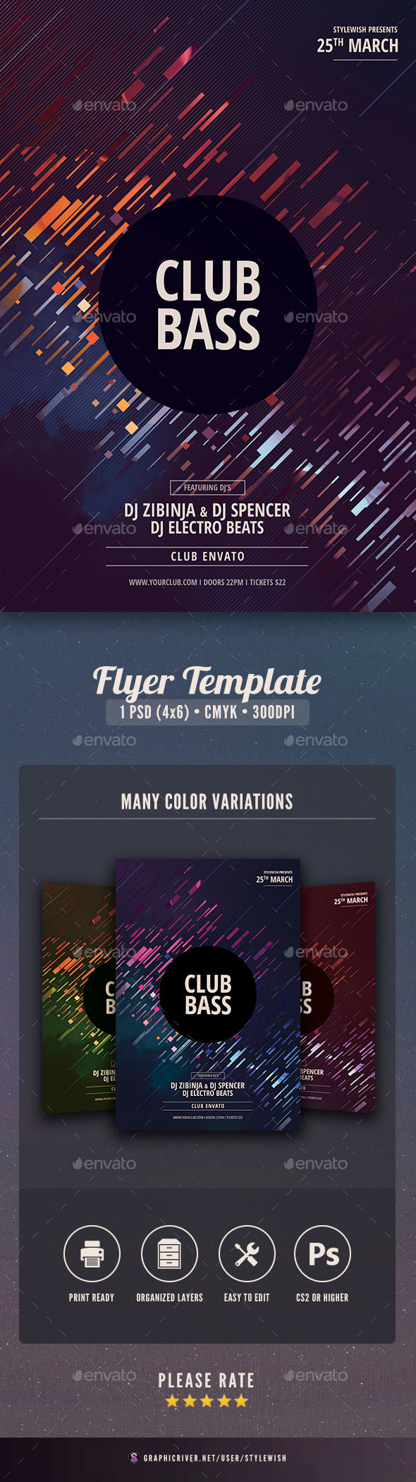 GraphicRiver Club Bass Flyer 21188252