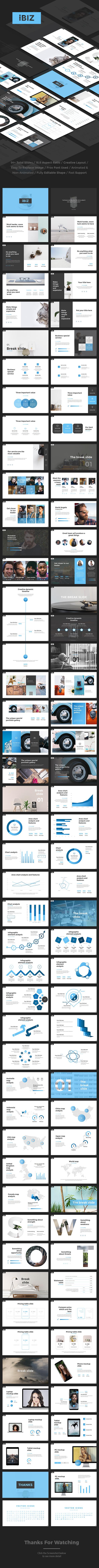 iBiz - Business Google Slides Template - Google Slides Presentation Templates