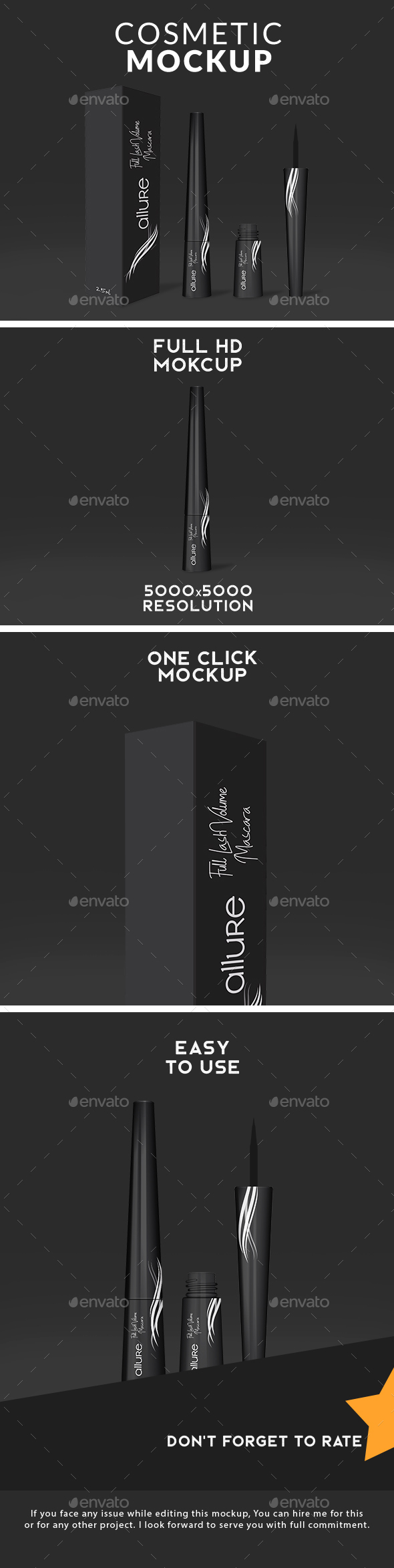 GraphicRiver Cosmetic Eyeliner Packaging Mockup 21188335