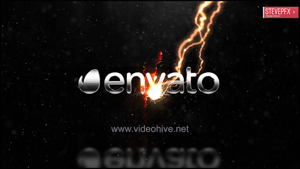 Thunder Lightning Logo (Electric) After Effects Templates