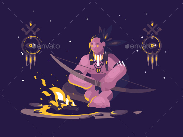 GraphicRiver Character Indian American 21188362