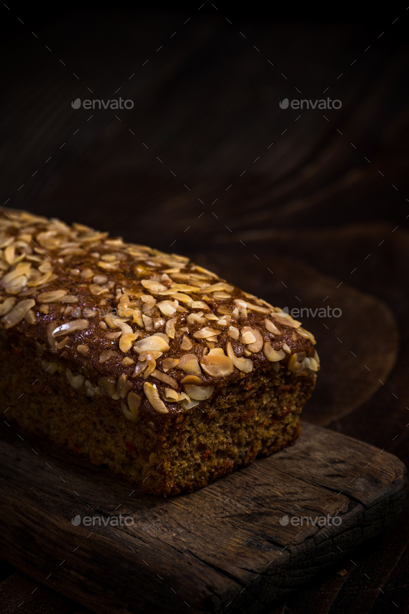 Easter healthy homemade carrot cake - Stock Photo - Images