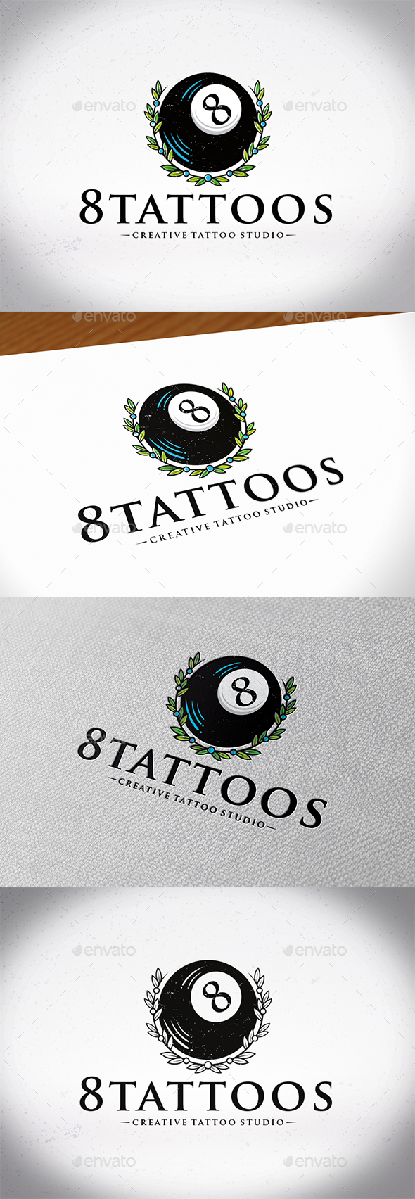 GraphicRiver Black Eight Ball Logo 21188473