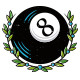 Black Eight Ball Logo