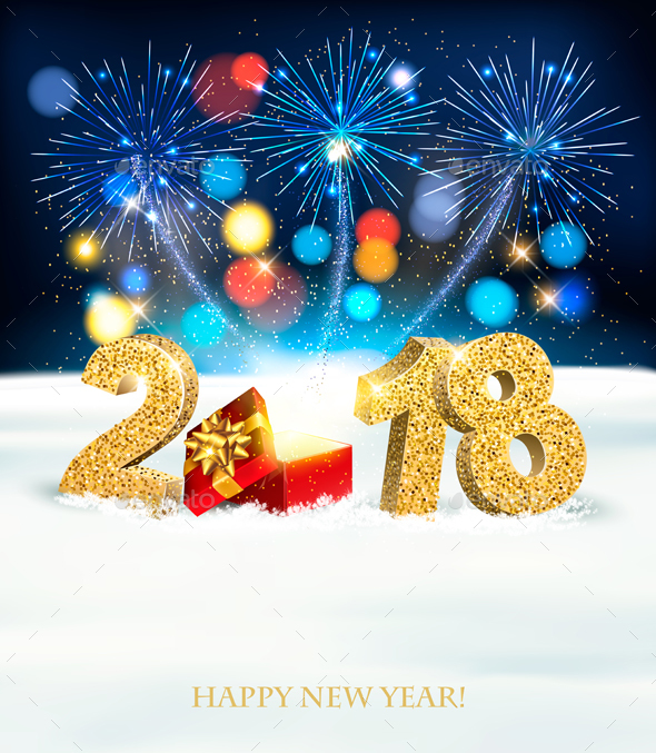 GraphicRiver Happy New Year 2018 Background With Fireworks 21188474