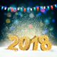 Happy New Year 2018 Background with Garland - GraphicRiver Item for Sale