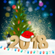 New Year Background with 2018 And Santa Hat - GraphicRiver Item for Sale