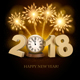 Happy New Year 2018 Background with Fireworks - GraphicRiver Item for Sale
