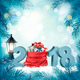 Happy New Year 2018 Background with Presents and Red Sack - GraphicRiver Item for Sale