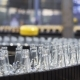 Spill in Glass Bottles at the Plant Conveyor - VideoHive Item for Sale