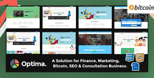 Optima - SEO, Marketing, Bitcoin, Agency Multiple HTML5 Template - Marketing Corporate