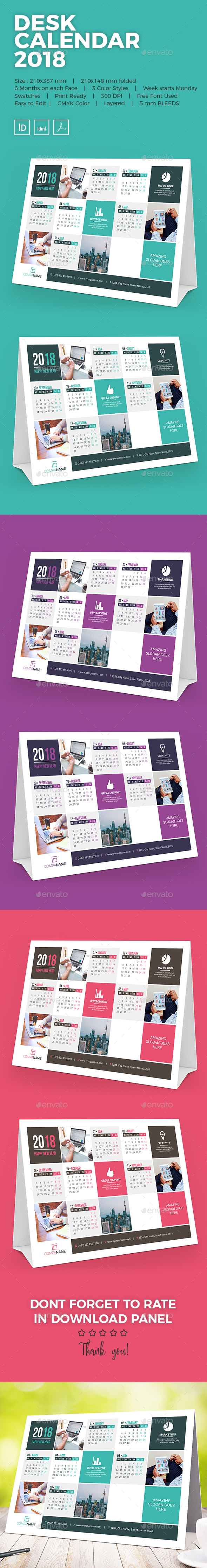 GraphicRiver Desk Calendar 2018 21188592
