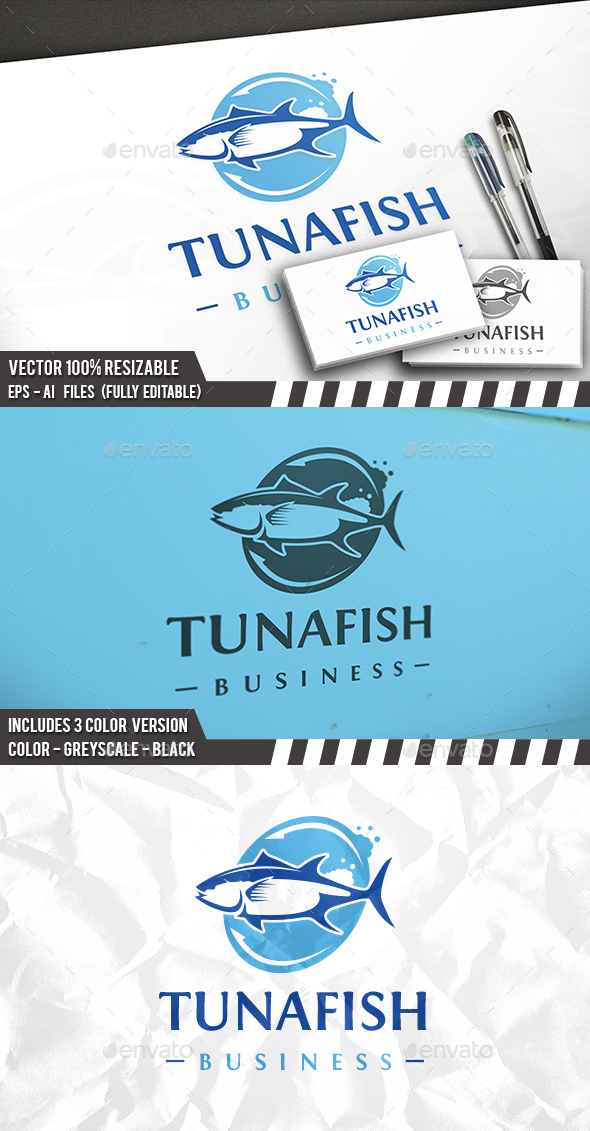 GraphicRiver Tuna Fish Logo 21188652