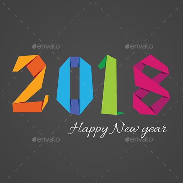 Happy New Year 2018 Background - New Year Seasons/Holidays