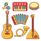 Musical Instruments Children's Toys Set - GraphicRiver Item for Sale