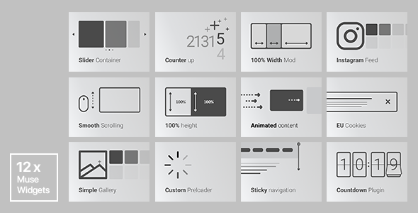 Download Source code              12x Adobe Muse Widgets by Rosea Themes            nulled nulled version