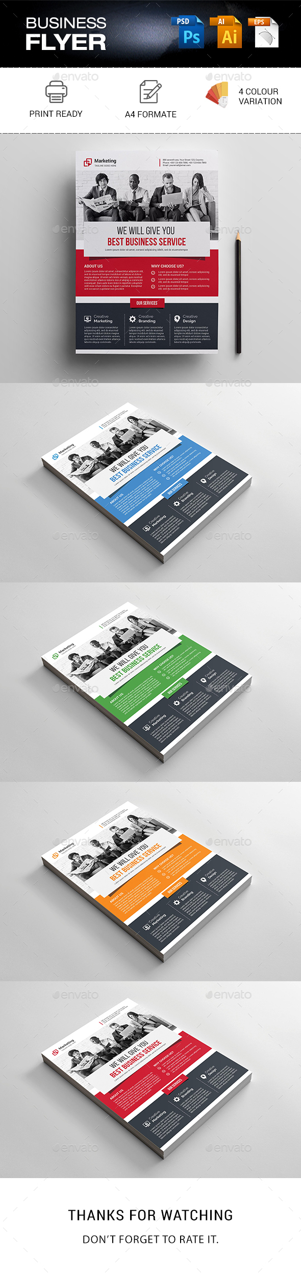 GraphicRiver Business Flyer 21189124