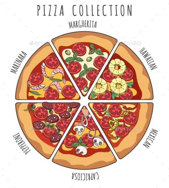 GraphicRiver Pizza Slice Collection 21189176