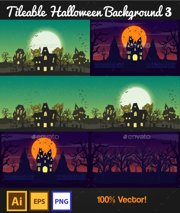 GraphicRiver Tileable Halloween Game Backgrounds 3 21184449