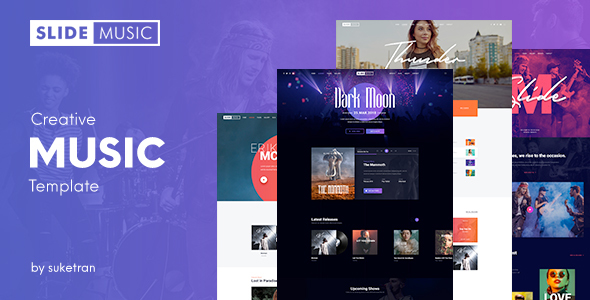 Slide – Creative Music PSD Template