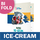 Ice-cream Restaurant Bifold / Halffold Menu 3